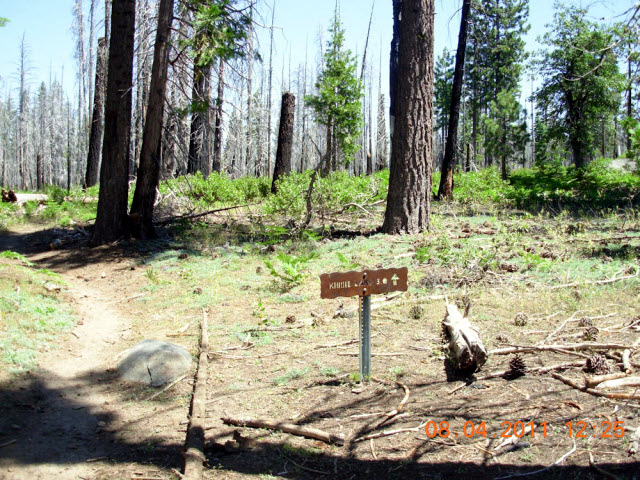 Trail sign - Kibbie Lake