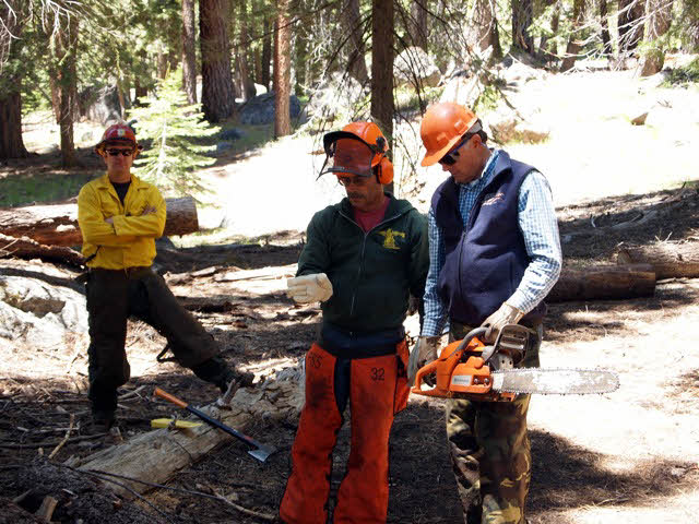 BCHC Members taking a chain saw class