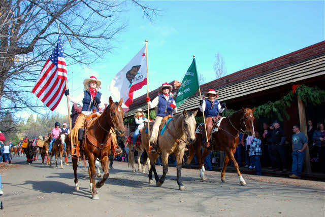 Horse-mounted Color Guard