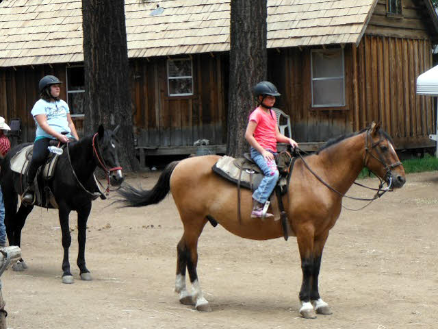 Girls on horses