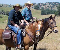 Two BCHC Members on horses